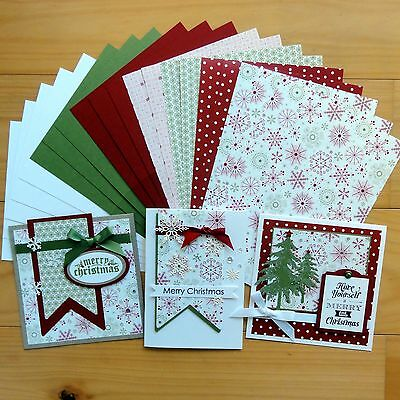"""snow Festive"" Christmas Designer Card & Paper Pack Diy Cardmaking 20 Shts A5"