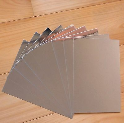 SILVER FOIL MIRROR CARD A5 x 10 SHEETS CHRISTMAS BIRTHDAY WEDDING - NEW