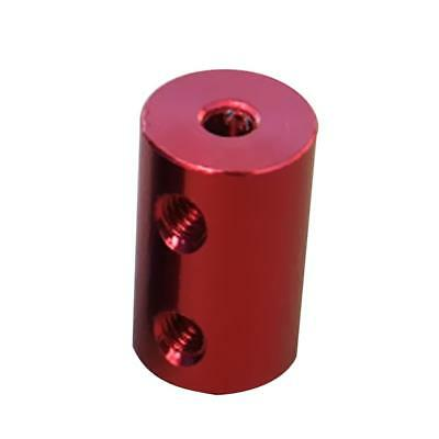 2mm-4mm Rigid Flexible Shaft Coupler Motor Connector Set Aluminum Alloy Red