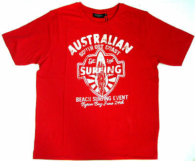 Kitaro Männer T-Shirt Australian South Cost Surfing Shirts scarled red L 50/52