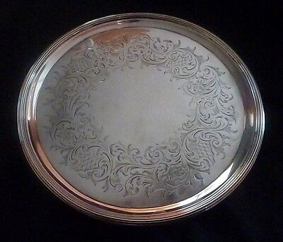George III Hallmarked Solid Silver Salver by John Hutson, London 1793