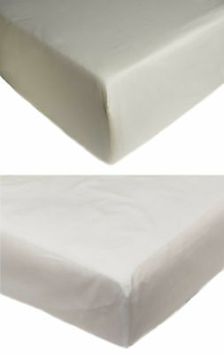 Fitted Sheet 100% Cotton Percale 400 Thread Count Easy Iron Bed Linen Bedding