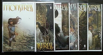 Monstress #1 2 3 4 5 1St Print & #1 2Nd Print Set Liu Takeda Image