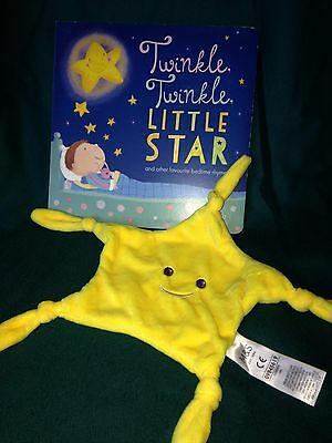 M & S Twinkle Twinkle Little Star Bedtime Ryhmes Book and Baby Comforter