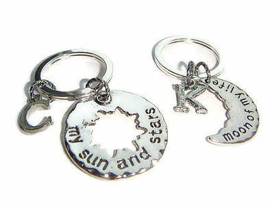 My Sun And Stars Keyrings, Couples Keychain Set, Moon Of My Life, Best Friends