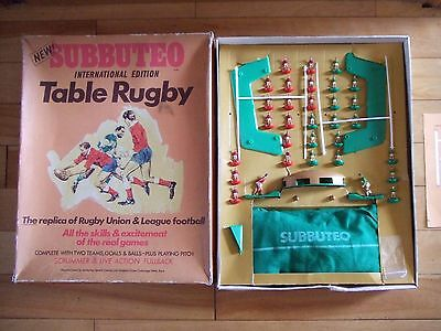 Subbuteo Rugby Iternational Edition WALES v IRELAND complete