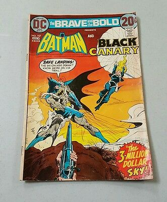 The Brave and The Bold No. 107 Batman and Black Canary DC Comic Book 1973