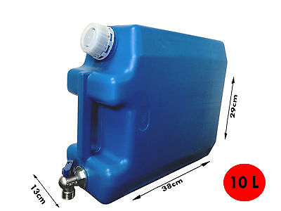 Water storage container 10L With tap  Camping Garden Tank Bottle Can Food Grade