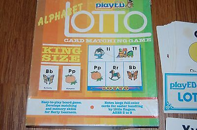 Vintage Alphabet Lotto Game Flash Cards PlayED