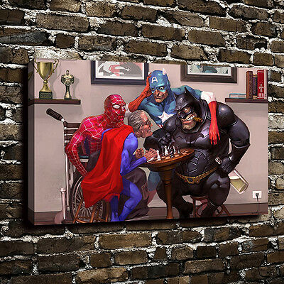 Game Of The Superhero Oil Painting Art Print Canvas Home Decor Picturer Unframed