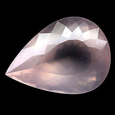 Echter Rosenquarz Transparent 29,61 ct, 27 x 20 x 14,8 mm