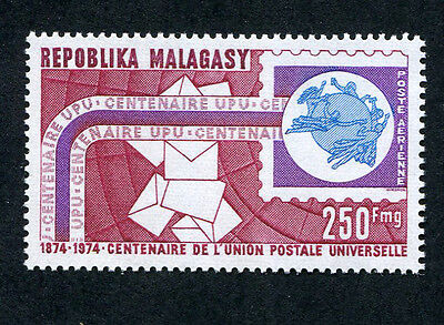MADAGASCAR 1974 Centenary of U.P.U., SET OF 1, MINT Never Hinged