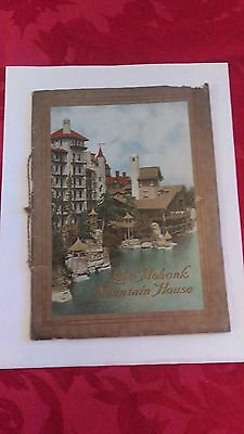 1911 Lake Mohonk Mountain House Booklet New Paltz New York