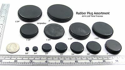 Rubber Grommets Without Hole Rubber Blanking Plug Solid Assortment Sample Pack