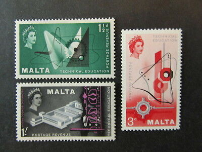 Malta, Sc# 266-268, Technical Education Set (1958) Mint