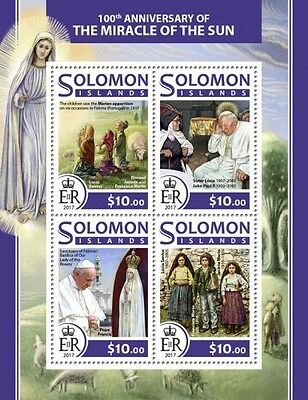 Z08 SLM17211a SOLOMON ISLANDS 2017 Miracle of the Sun MNH Mint