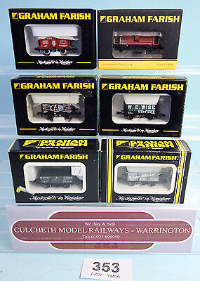 Graham Farish 'n' Gauge Qty Of 6 Various Assorted Mixed Freight Wagons Boxed