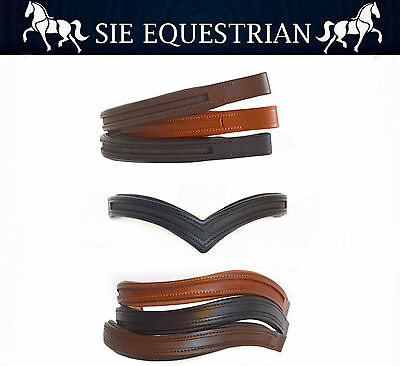 """15""""/16""""/17"""" Empty Channel Browbands for Bridles, Decorate it Yourself"""