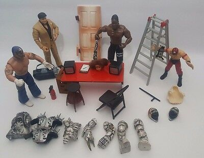 Large WWE / WWF Action Figure Accessories Bundle Weapons Set Building