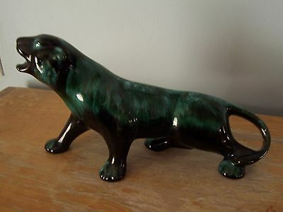 """Vintage Blue Mountain Pottery 10"""" Panther - Very Good Condition"""