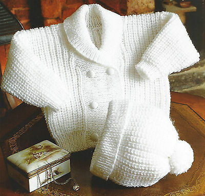 Baby Childs Jacket Hat Knitting Pattern Double Knit 18/24 Inch  (832)