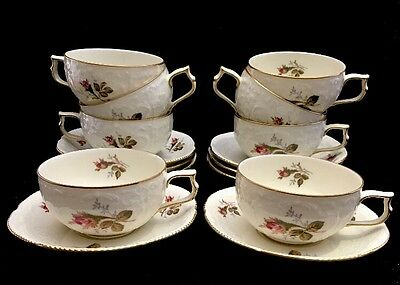 Lot of 16 Rosenthal Classic Rose Collection Germany 8 Tea Cups and Saucers Set