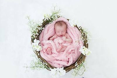 Baby Pink Basket Filler Suffer Newborn Photography Prop RTS UK seller