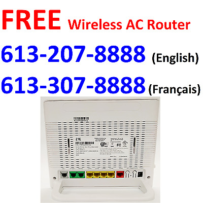 ( Quebec only ) Free ZTE H268A Wireless AC1600 VDSL route with 50M Internet plan