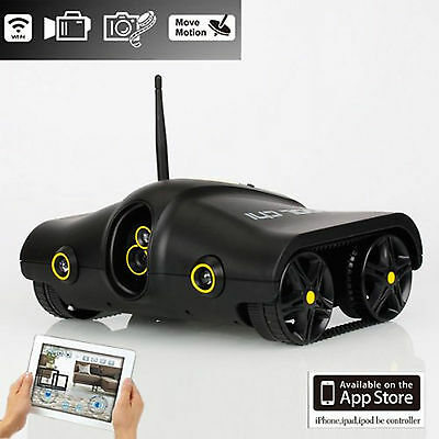 Spy Tank Remote Control with Camera Support Infrared Night Vision App 5009