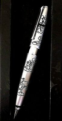 Disney Mickey Mouse Executive Etched Art Ballpoint Pen New in Gift Box