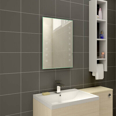Illuminated LED Bathroom Mirror with Steam Free Demister & Shaver Socket 700x500