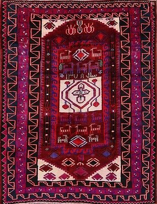 "Geometric Tribal 6x8 Lori Persian Area Rug Oriental Carpet 7' 9"" x 6' 3"""