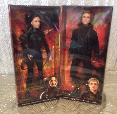 The Hunger Games Mocking Jay Part 2 Katness Peeta Barbie Dolls Black 2015 Pair
