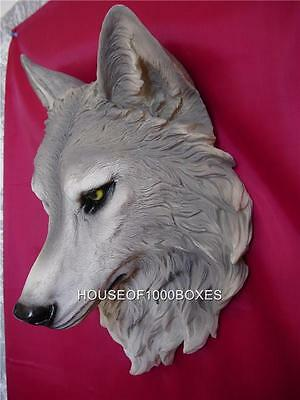 Wolf Head Wall Mount Large Wolves Timberwolf Lodge Remus Log Cabin Dog