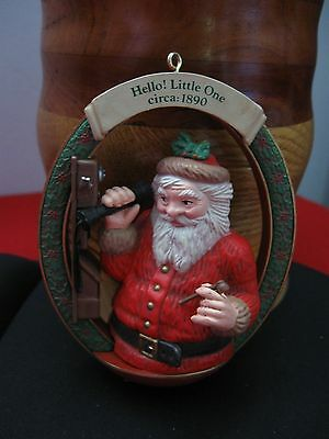 1990 M. Gillmore Hello! Little One Circa 1890 Christmas Ornament Antique Resin