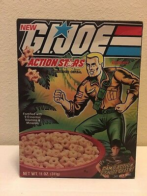 G.I. Joe Action Stars Duke 11 Oz Cereal Box Unopened Ralston T-Shirt Offer 1985