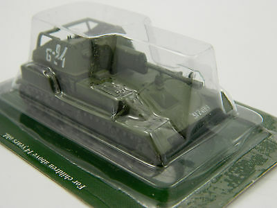 SU-76М (green), Russia, 1:72nd scale diecast Tank №49 by Fabbri