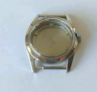 Stainless Steel Watch Case & Back, Glass, Crown  Swiss Made ETA 2390