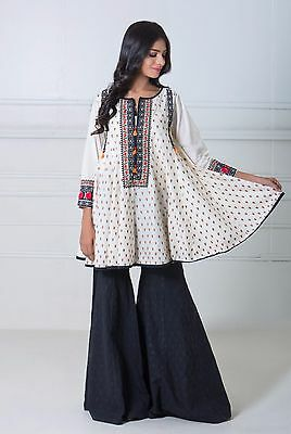 Brand New KHAADI Latest  Collection Peplum Embroidered Kurta (Ready to Wear)