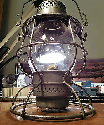 ILLINOIS CENTRAL RAILROAD Lantern ADAMS & WESTLAKE CO RELIABLE 1913