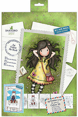 Docrafts Gorjuss Postal Collection COLOUR ME BOOK 45 page illustrated designs