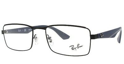 New Ray-Ban Rb 6332 2503 Black Eyeglasses Authentic Frames Rx Rb6332 53-18