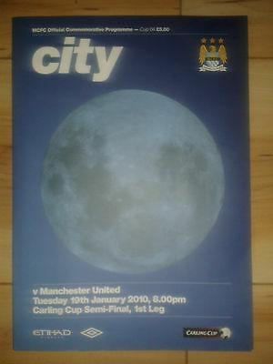 Manchester City Vs. Manchester United Carling Cup Semi-Final 1st Leg Jan 2010