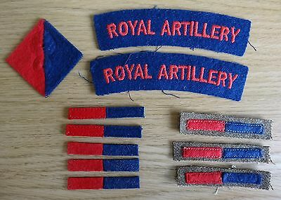 British Army Royal Artillery Shoulder Titles & Arms of Service Strips