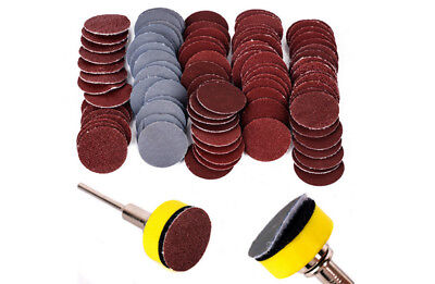 Plateau Velcro + Tige + 100 Disque Poncage  5 Grains  Different Dremel Proxxon