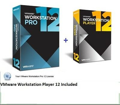 Vmware Workstation 12.5 Pro lifetime LICENCE 2017 FULL VERSION 5PC PER LICENCE