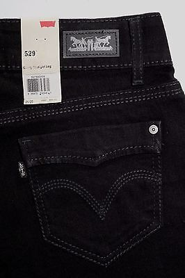 Levi's 529 Straight Leg Black  Women's Jeans