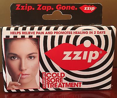 Brand New Zzip Zap Gone Cold Sore Treatment Transparent Pain Relief
