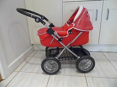 Silver Cross Toy Pram with Cover and Tray