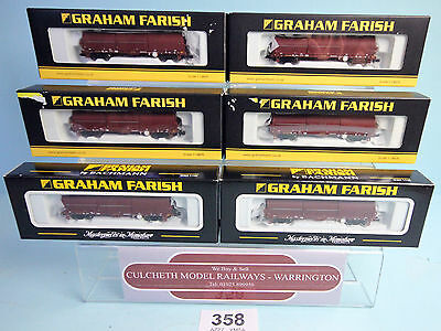 Graham Farish 'n' Rake 6X 373-826/5 104T Ews Steel Strip Carrier Wagons  #358